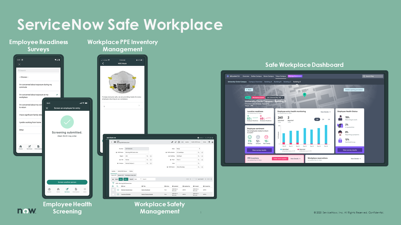 ServiceNow Safe Workplace Apps